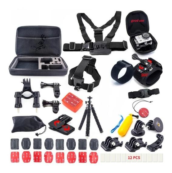 Kit Acessórios Gopro - Hero Black 7/6/5/4/3 Xiaomi Yi Sjcam