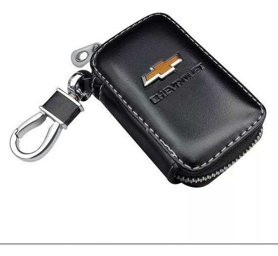 Novidade - Capa Em Couro Case Porta Chaves Carro Chevrolet