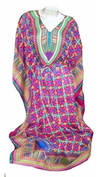 Colorida Tunica O Kaftan Hindu Kimono 130 Cm Largo Xxxl