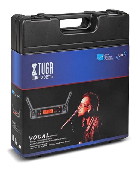 Microfone De Mão Uhf Sem Fio Duplo Xtuga Glxd8 Novo Na Caixa