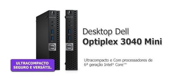 Optiplex 3040 I3 - 8gb Hd 500gb + Monitor, Teclado E Mouse