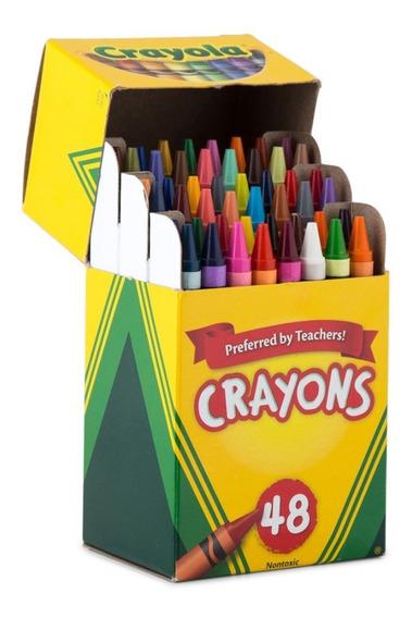 Crayola Paquete De 48 Creyones Para Colegio Niños