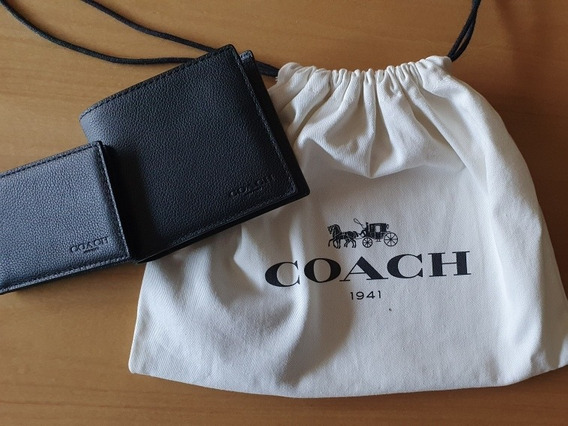 Billetera Coach Negra Nueva