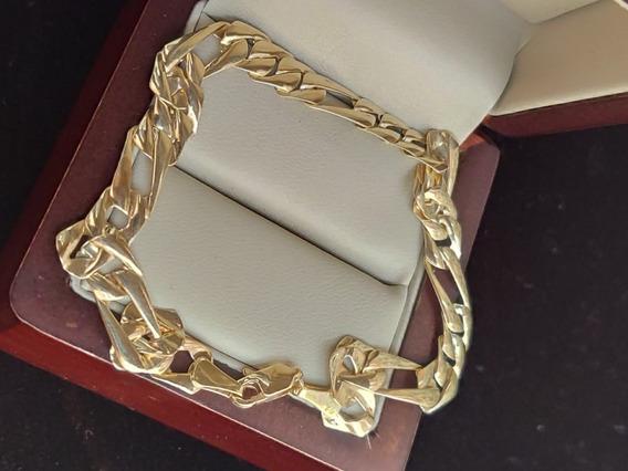 Pulsera De Oro Amarillo 10k Tipo Cartier O Figaro