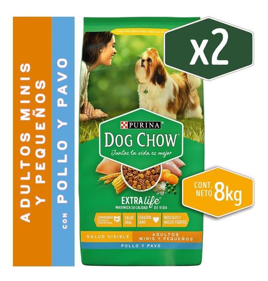 Pack Dog Chow® Adulto Razas Pequeñas Pollo Y Pavo 8kg