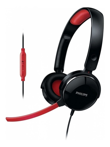 Headset Gamer Philips Shg7210/10 P2 Preto C/ Vermelho