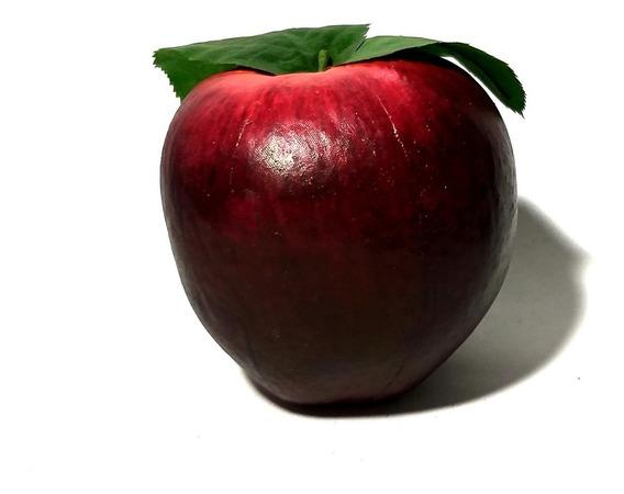 Frutas Grandes Decorativas Manzana Roja Oscuro