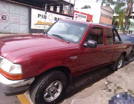 Ranger Vermelha Cabine Estendida 2001 V6 - Ótimo Negócio