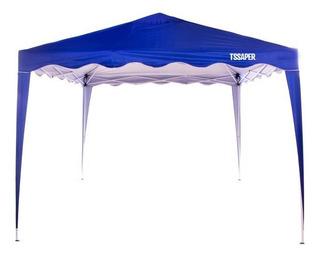 Tenda Gazebo 3x3 Articulado Dobravel Azul Camping Praia