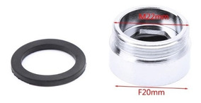 1 Peça Adaptador Para Torneira Bico De Led - 22mm Para 20mm