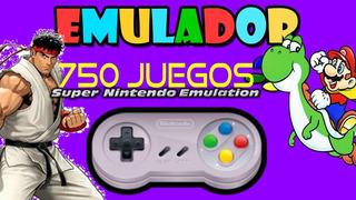 Emulador Super Nintendo Para Pc Windows 750 Juegos Clásicos