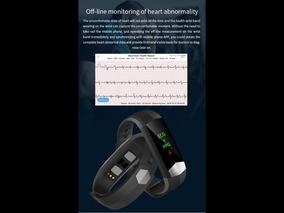 Relógio Inteligente Ecg Eletrocardiograma Pressão Arterial