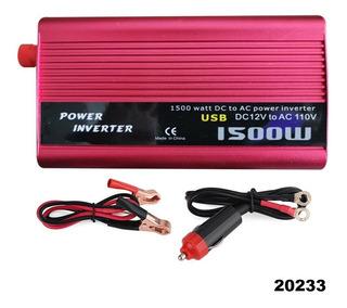 Inversor Corriente Convertidor 1500w 12v-110v W01