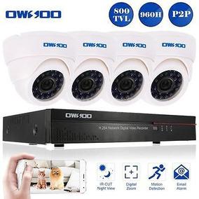 800tvl Cctv Vigilancia Dvr Kit P2p Red De 8 Canales + 4...