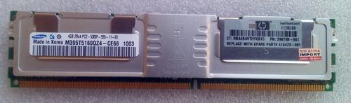 Imagem 1 de 5 de Memoria Servidor Ecc Samsung 4gb Pc2-5300f Ddr2 M395t5160qz4