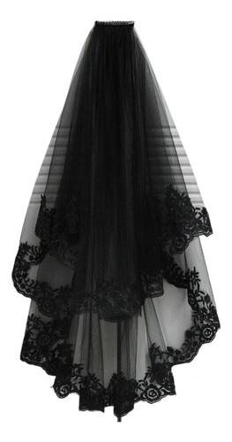 Imagen 1 de 8 de Vestido Largo De Encaje De Novia De Novia De Halloween Borda