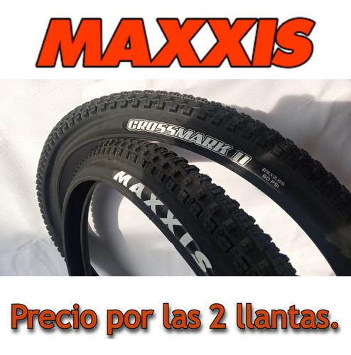 Imagen 1 de 10 de 2 Llantas Maxxis Crossmark I I  29*2.25/talón Convencional.