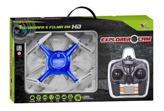 Drone Art Brink Explorer Cam 2.4g Grava Em Tempo Real Fpv