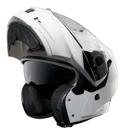 Casco Rebatible Caberg Duke White Metal Yuhmak