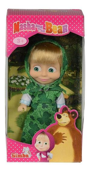 Boneca Masha Cores Roupinha Verde Trevo Masha E O Urso Simba