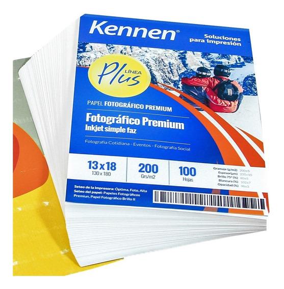 Papel Foto 13x18 Kennen Premium 200gr 200 Hojas Waterproof
