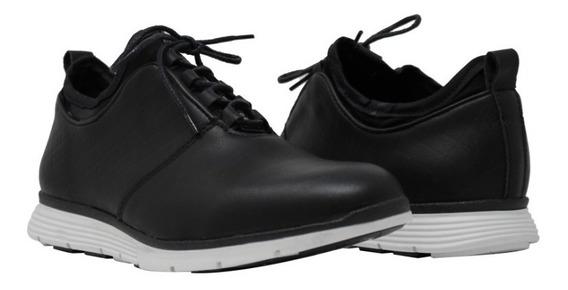 Zapatos De Caballero Casual, 7200 Negro Via Urbana