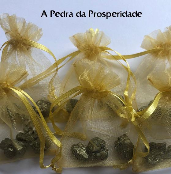 Kit 3 Mini Piritas Bruta Pedra Cristal Natural Prosperidade