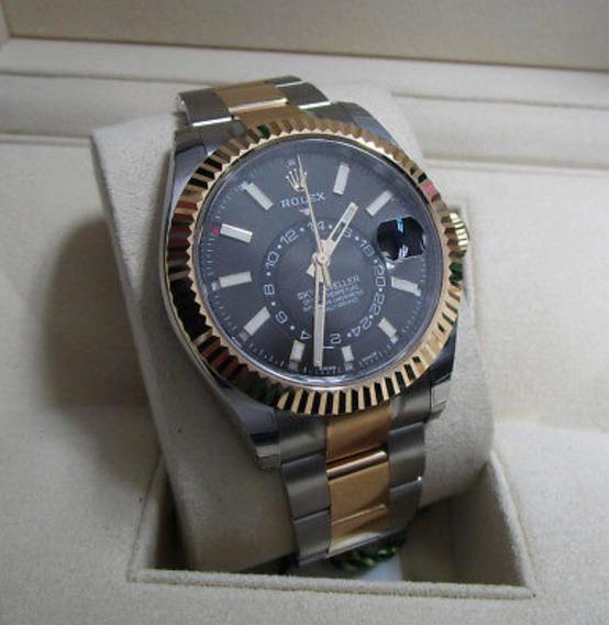 Relógio De Luxo Azul Dourado