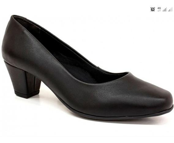 Sapato Social Obreira Preto Universal Feminino