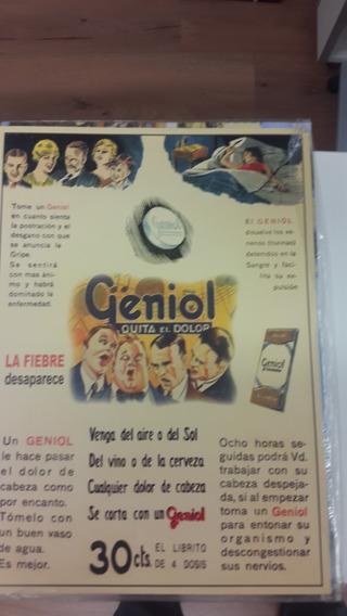 Poster Publicidad Geniol Quita El Dolor
