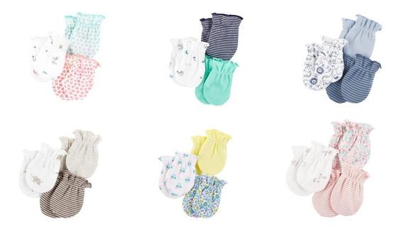 Carters Luvas Bebê Kit 3 Pares Algodão ( Preço Por Kit)