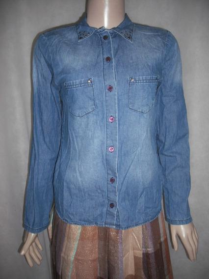Blusa Camisete Jeans Hering Infantil Tam 14 Usado Bom Estado