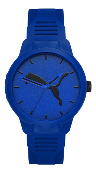 Reloj Caballero Puma Reset V2 P5014 Color Azul Poliuretano