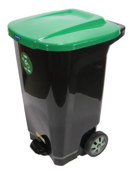 Cesto Residuos Tacho De Basura 100 Litros Tramontina Verde