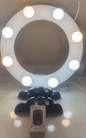 Iluminador Ring Light De Mesa 40cm Diâmetro C/ 08 Soquetes