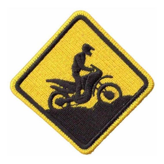 Patch Bordado - Placa Piloto Moto Trilha Motocross Ad30128