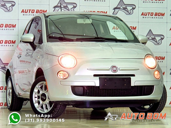 Fiat 500 Cult 1.4 Flex 8v Evo Mec. - Prata - 2012