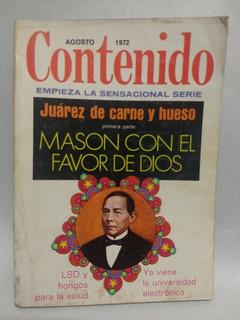 Revista Contenido Juárez De Carne Y Hueso 1972