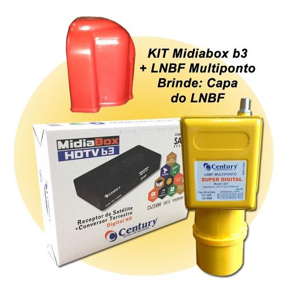 Receptor Digital Midia Box B3 Lnbf Multiponto E Capa P/lnbf