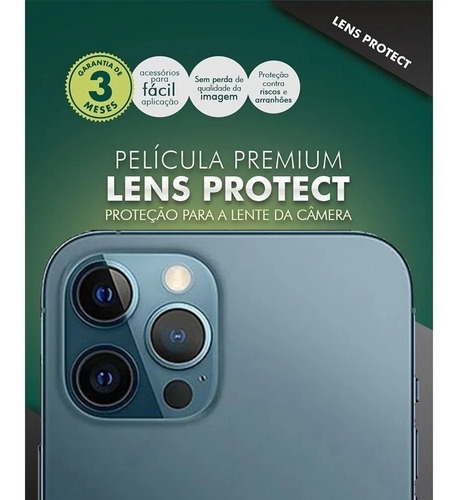 Imagem 1 de 3 de Hprime Lente Câmera iPhone 12 Mini / 12 / 12 Pro 12 Pro Max