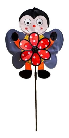 Cata Vento Flor Animais Decoração Jardim Sino Dos Ventos