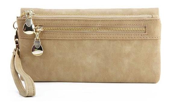 Cartera Dama Larga Billetera Monedero Porta Celular Tarjetero
