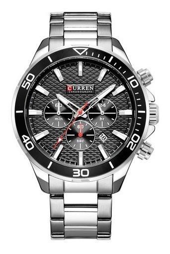Reloj Hombre Curren 8309 Elegante Cronómetro Fecha Acero
