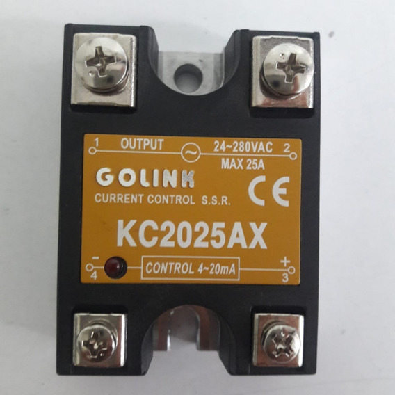 Relevador Estado Solido Max 25a 24-280vac Control 4-20ma