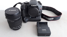 Canon T3i + Grip + Lente 18-135 Mm + 2 Baterias