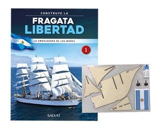 Fragata Libertad Con Piezas- Salvat