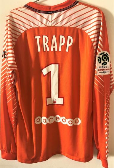 Camisa Do Psg 2017/18 Goleiro Trapp #1 Liga Francesa