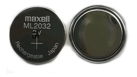 Baterias Originais Maxell Ml2032 Recarregaveis 2 Unidades