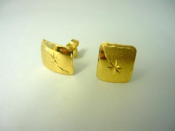 Par De Brincos Femininos Em Ouro Bf18k