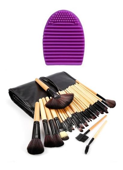 Set De Brochas Maquillaje Profesional De Ojos Organizador 32